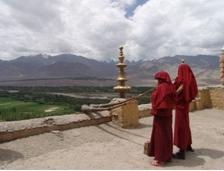 На крыше Монастыря Тикси